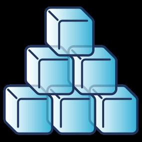 Kostkový led